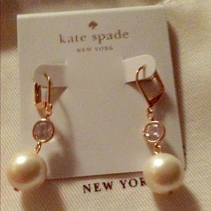 kate spade Jewelry - Kate Spade Pearl Drop Earrngs